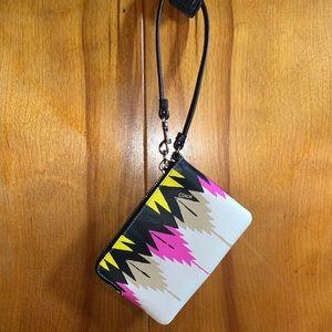 NWT Aztec Printed Coach Wristlet